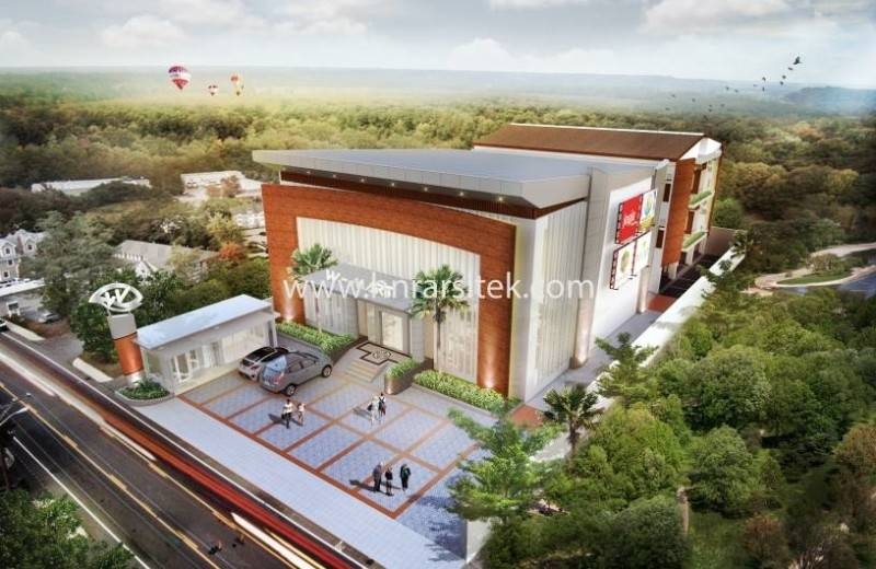 W-Mart Supermarket and Boarding House karya Hendra Budi Architect (Sumber: arsitag.com)
