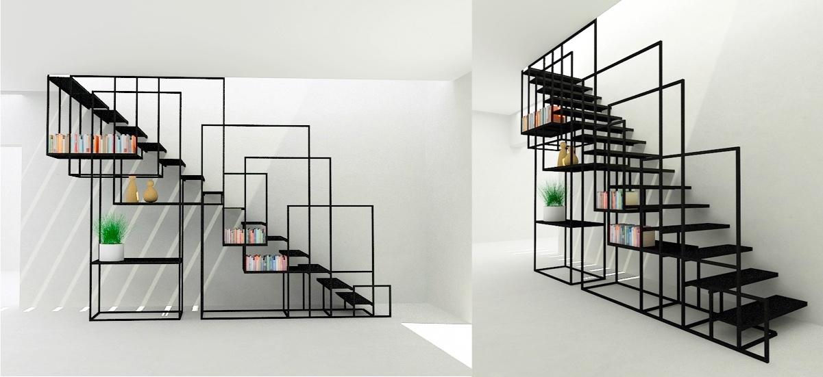 Trik desain tangga rumah minimalis unik [Sumber: home-designing.com]