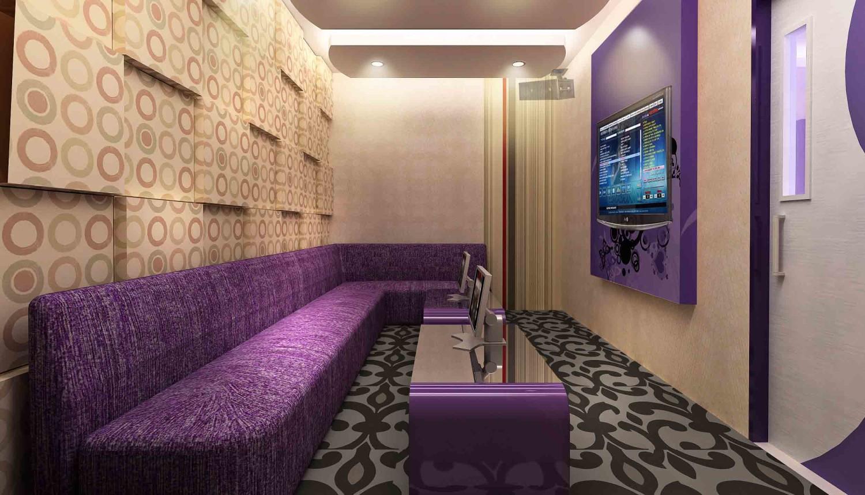 Contoh desain interior ruang karaoke (Sumber: 3osdesignconstruction.wordpress.com)