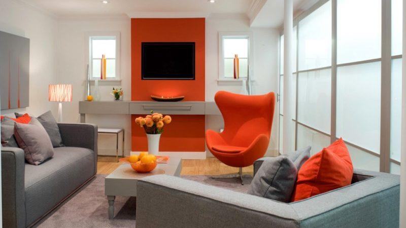 Ruang Tamu dengan Nuansa Orange (Sumber: freshhome.com)