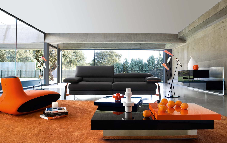 Hasil gambar untuk Tambahkan Warna Oranye untuk Desain Interior Ruang Tamu