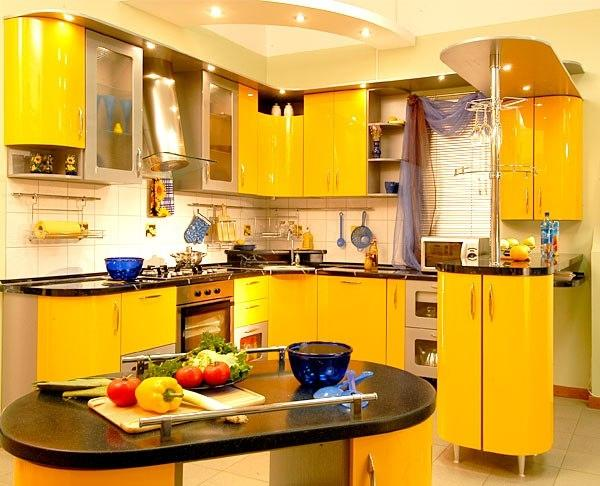 Yellow Kitchen (Sumber: lushome.com)