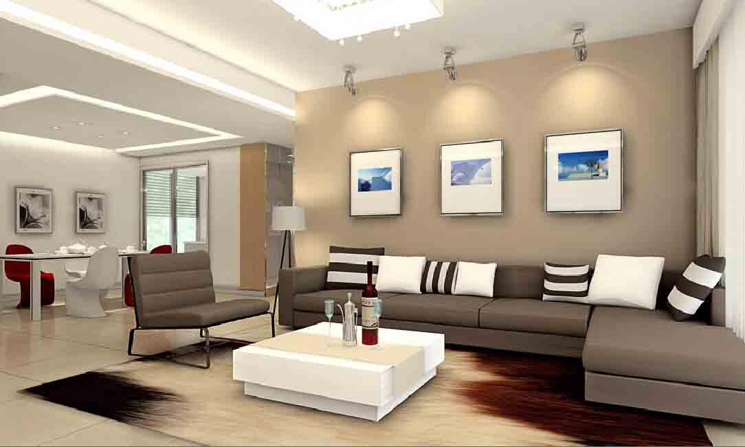 Desain lighting rumah minimalis dengan spotlight pada aksen tertentu [Sumber: interiordesign777.com]