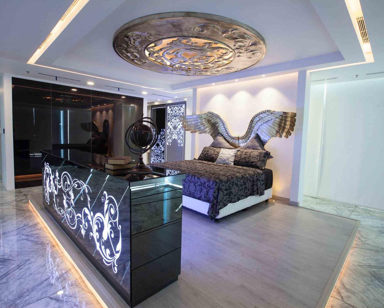 Desain lighting dengan sakelar dimmer pada rumah di Sydney [Sumber: babywatchome.com]