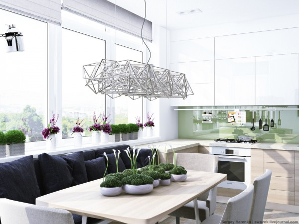 Trik bermain lighting sculptural rumah minimalis [Sumber: home-designing.com]