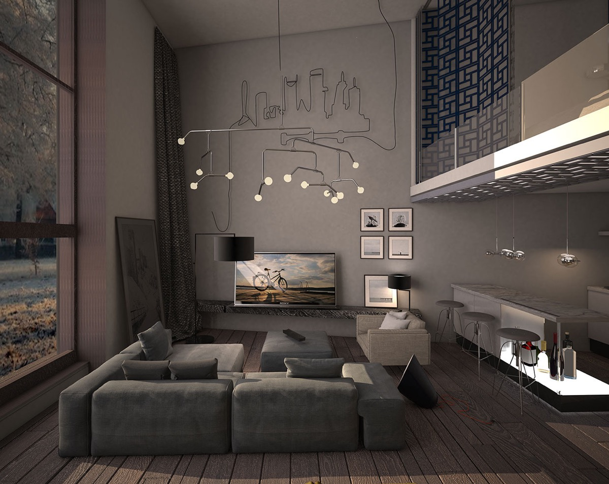 Ide desain lighting rumah minimalis [Sumber: roohome.com]