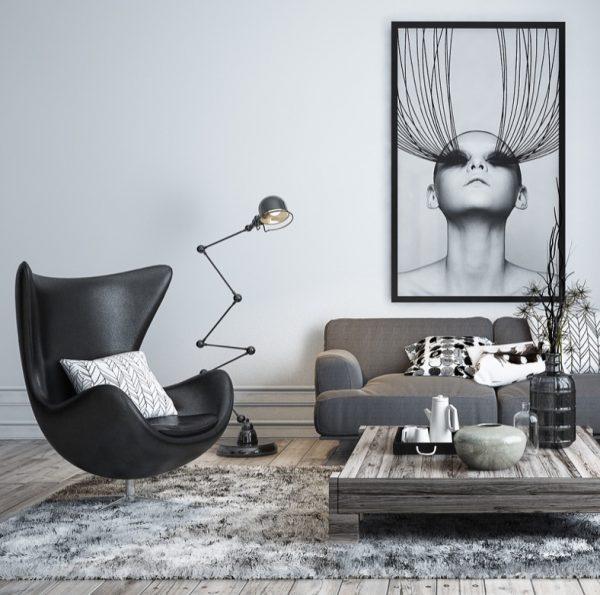 Desain lighting rumah minimalis industrial [Sumber: www.home-designing.com]