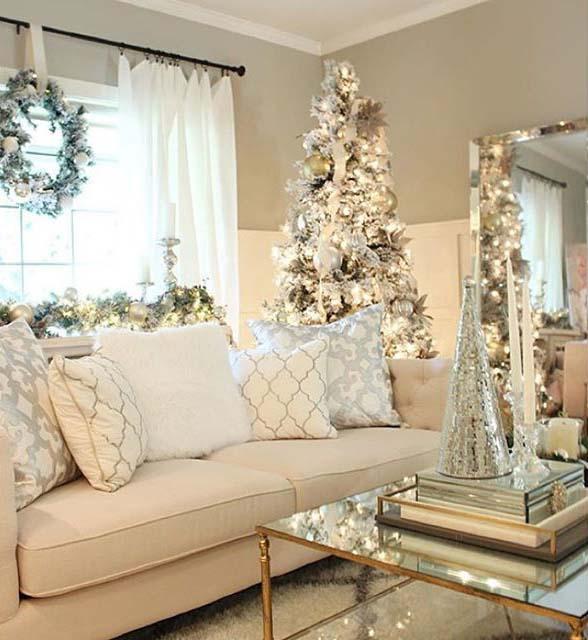Dekorasi Natal Putih yang Elegan (Sumber: Pinterest.com)