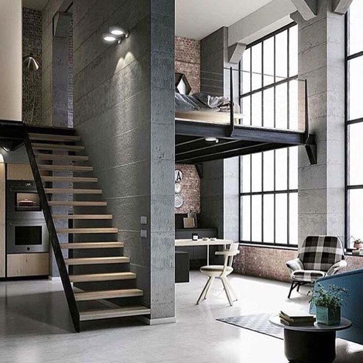 Modern Industrial Loft Apartment