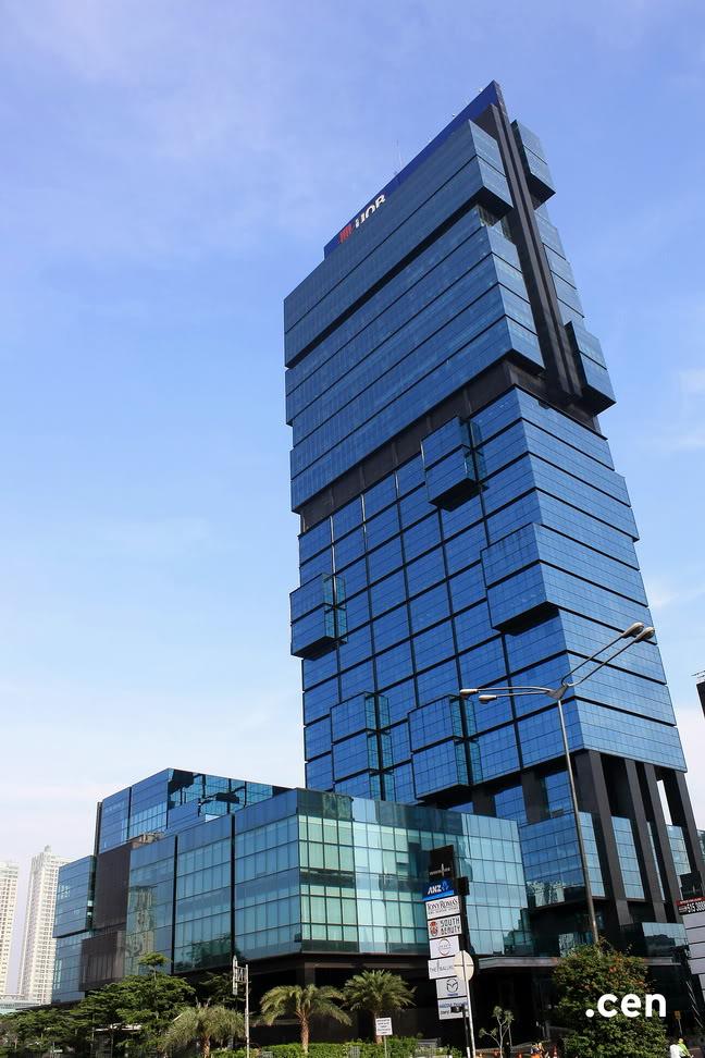 Menara UOB setinggi 195 meter, 41 lantai, beroperasi mulai 2009 (Sumber :skycrapercity.com)