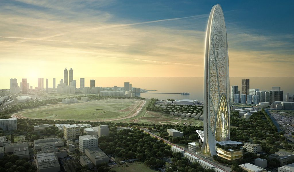 Pertamina Energy Tower setinggi 530 meter karya SOM di Kuningan, Jakarta yang akan rampung tahun 2020 (Sumber: google.co.id)