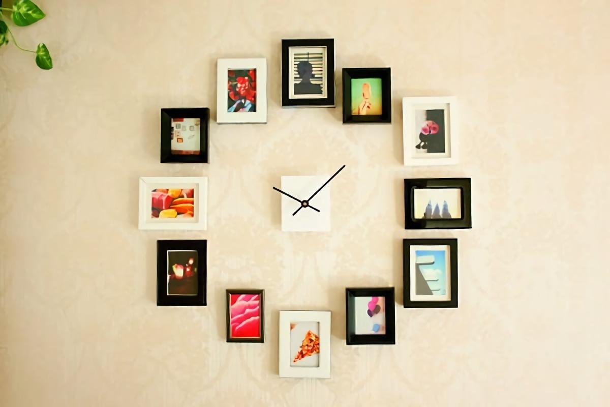 Foto-foto sebagai angka jam. Unik dan fungsional. (Sumber: bravacasa.rs)