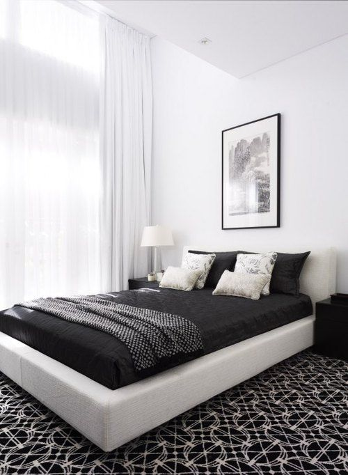 1070+ Ide Desain Kamar Tidur Hitam Putih HD Terbaik Untuk Di Contoh