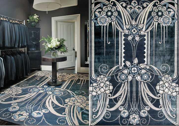 Karpet motif Art Deco. Penggunaan karpet bermotif Art Deco dapat menjadi pilihan untuk rumah modern Anda. Selain menambah nilai seni, penggunaan karpet dengan motif Art Deco juga memberikan nuansa berbeda pada ruangan.