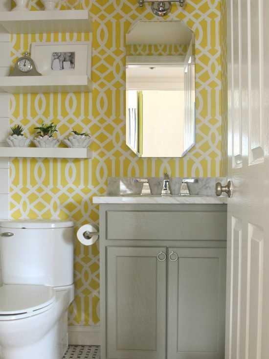 Jika Anda memiliki wastafel di rumah, area itu bisa dieksplorasi agar suasans menjadi hidup, dengan menempelkan wallpaper yang sesuai dengan selera Anda. Jika Anda berniat memasang di kamar mandi juga, usahakan agar wallpaper dipasang di daerah yang paling sedikit terkena air dan bahannya anti lembab