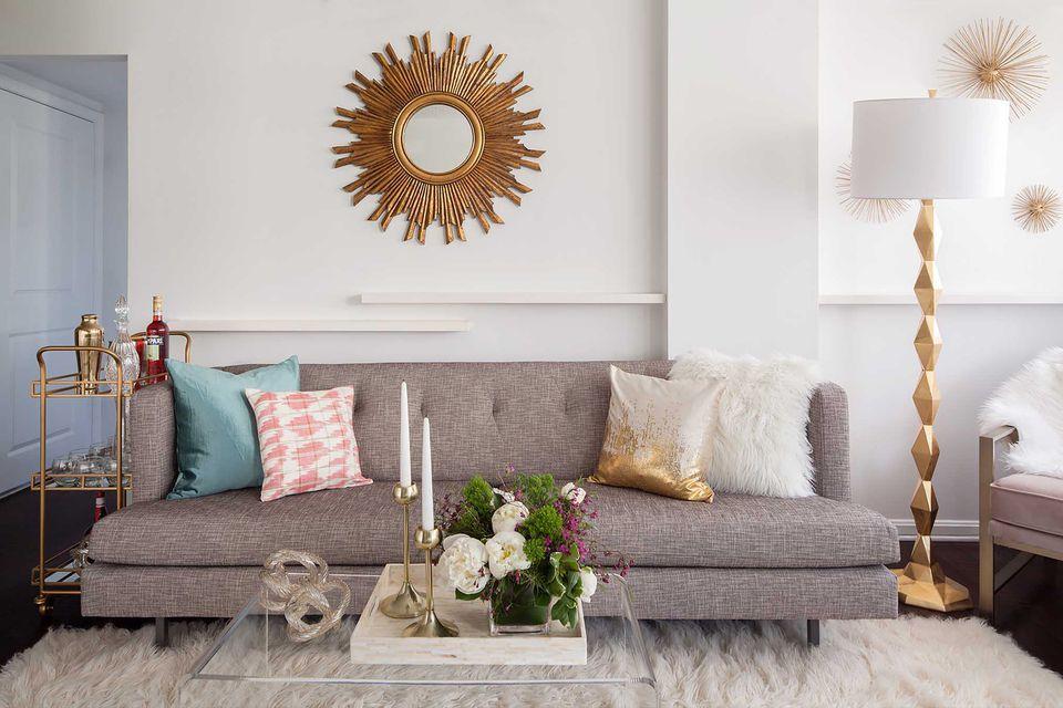 Sentuhan Kecil Warna Emas pada Interior Rumah