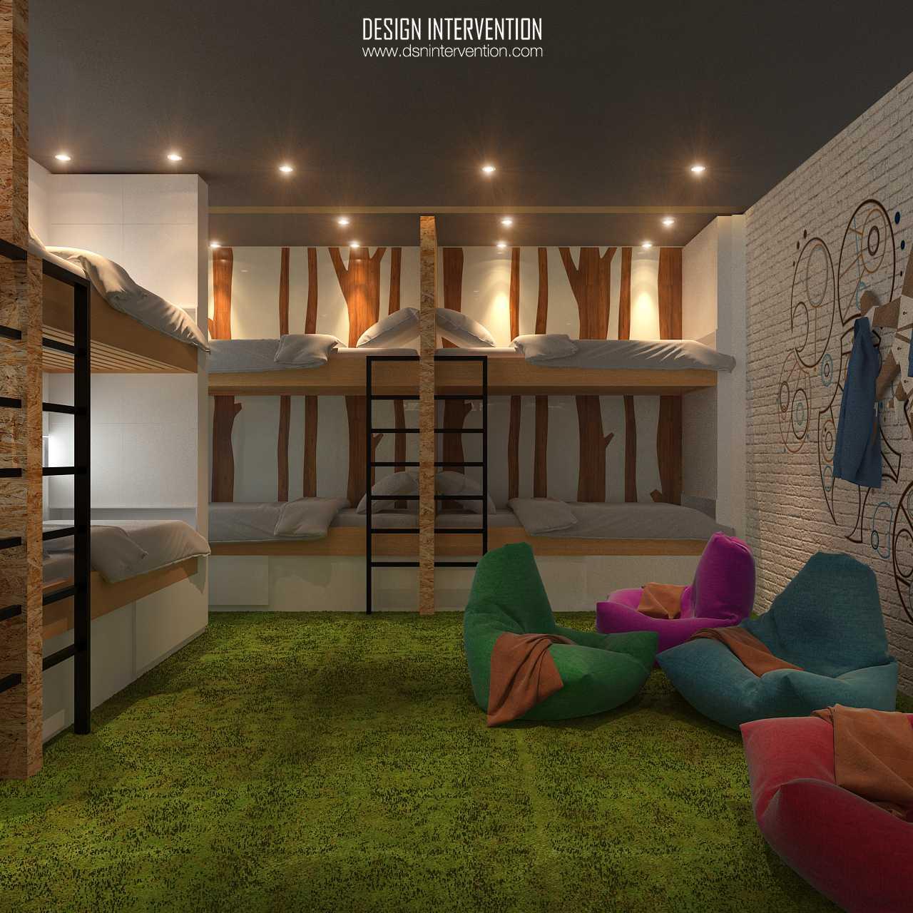 B Hostel karya Design Intervention (Sumber: arsitag.com)