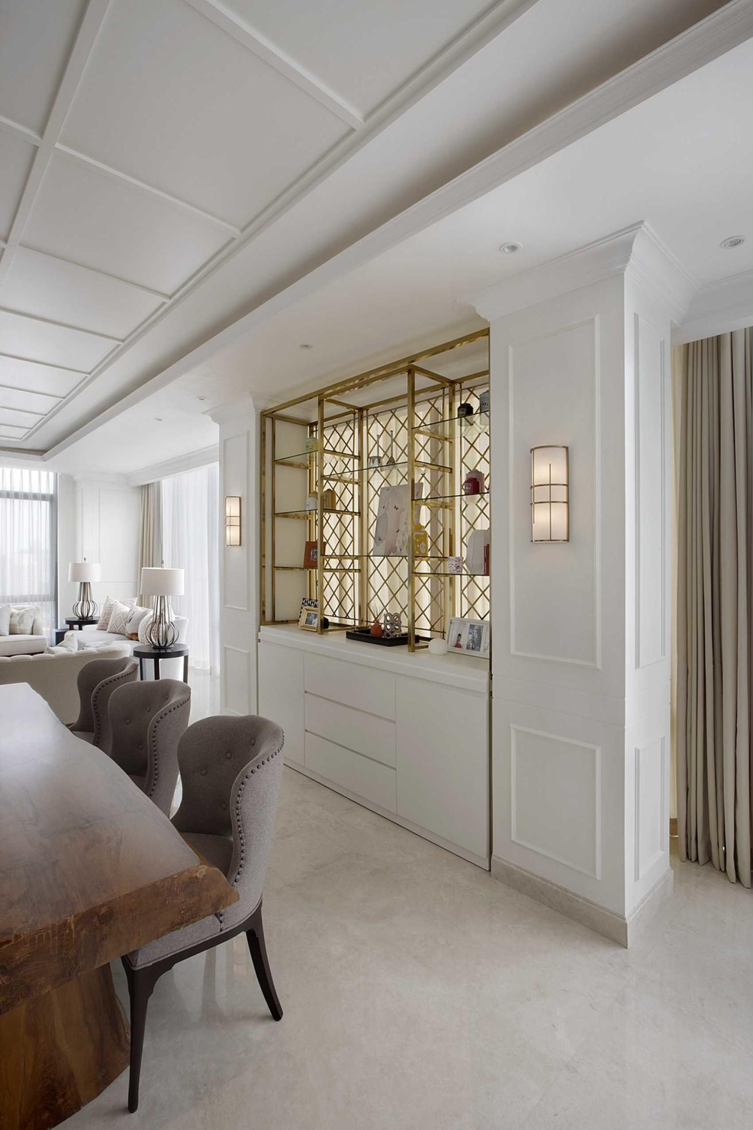 Solusi keren menyiasati kolom di tengah ruang senopati-suites-apartment-1 (Sumber: arsitag.com)